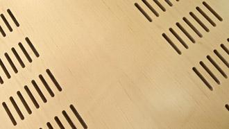 Panneaux acoustiques rainurés (Système PAR)