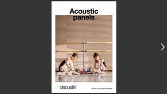 Catálogo de paneles acústicos en formato PDF