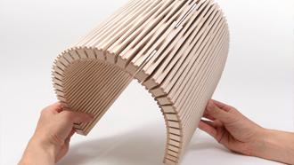 Paneles curvados acústicos